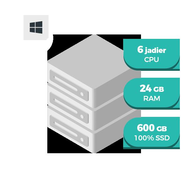 WIN VPS L SSD virtuálny server